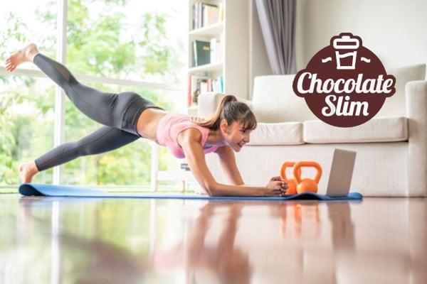 complementar chocolate slim con ejercicios para mejores resultados
