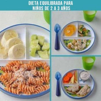 Dieta equilibrada para niños de 2 a 3 años