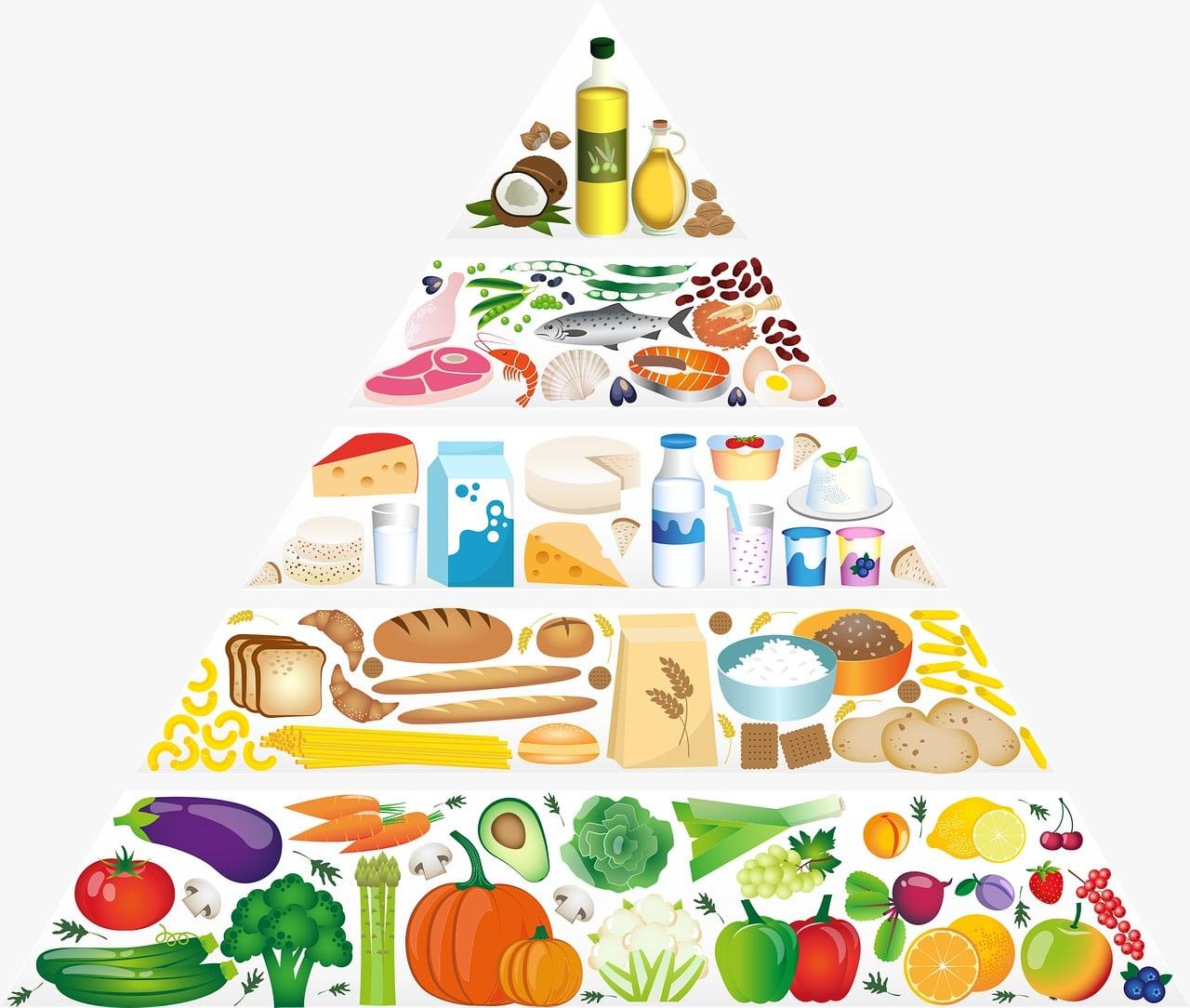 piramide alimenticia dieta equilibrada niños